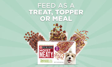 Feed Moist and Meaty as a treat, topper or meal